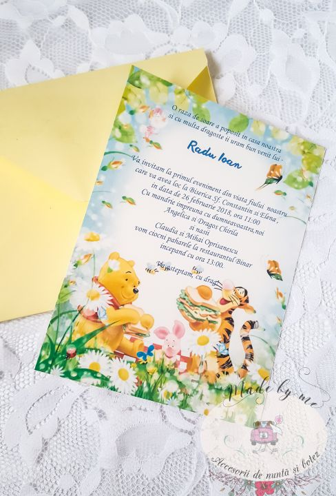 Invitatie botez Winnie the Pooh
