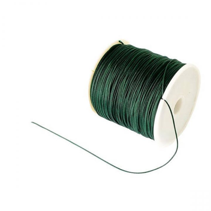 45m Snur pentru bratari Shamballa ,nod chinezesc 0.8mm, dark green- AN10