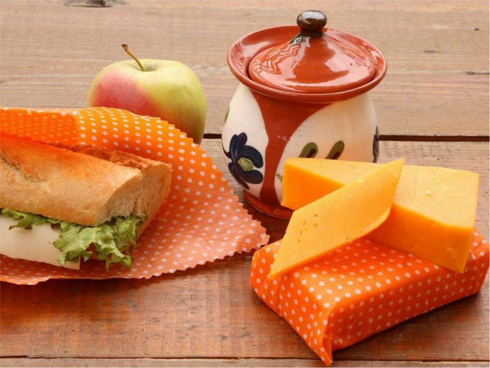 Ambalaj ecologic pentru alimente cu ceară de albine  - bee's wrap portocaliu 25*25cm