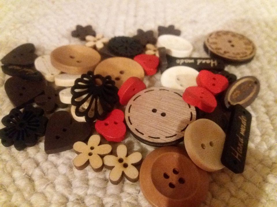 nasturi lemn mix 40 bucati
