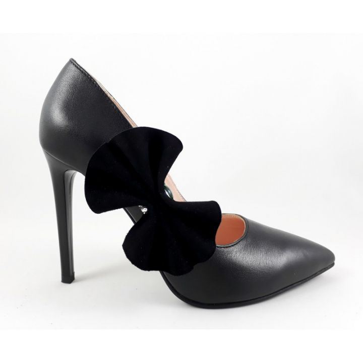 Pantofi cu piatra semipretioasa- pantofi Ancolette, piele naturala, pantofi pe comanda