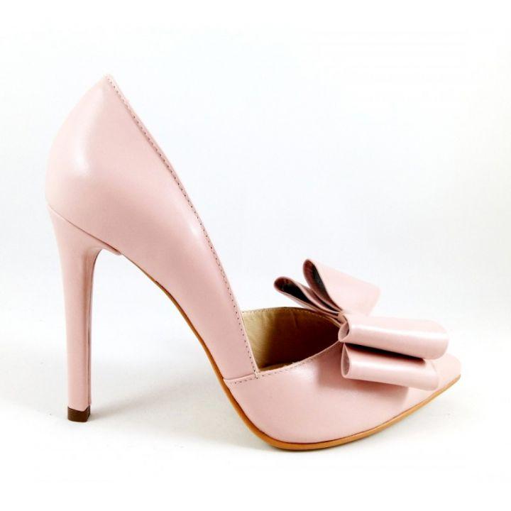 Pantofi Roz Pal Funde Pantofi Ancolette Piele Naturala Pantofi