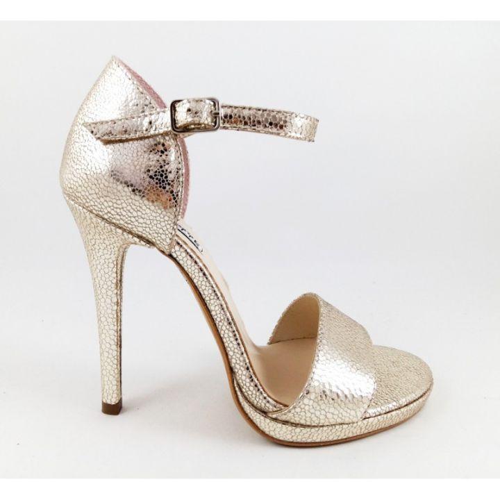 Sandale Mireasa Mirror Gold Sandale Piele Naturala Auriu