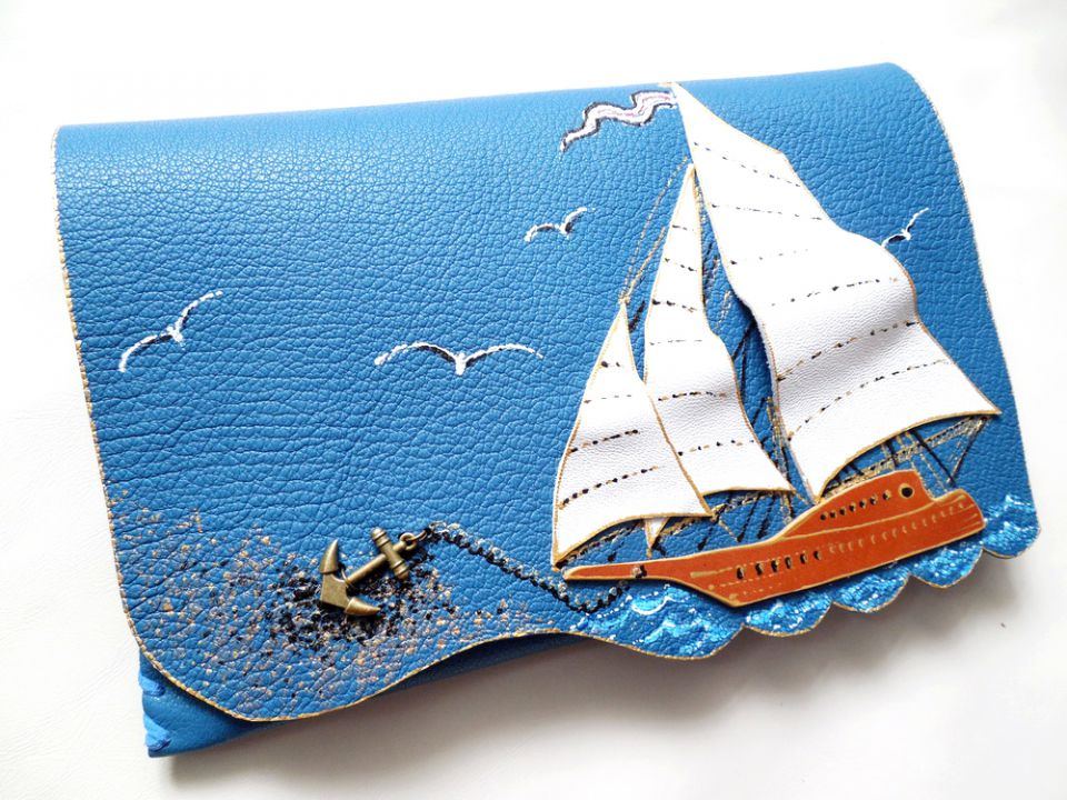 plic handmade unicat - Blue Lagoon