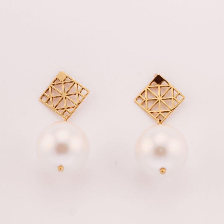 Cercei cu perle sea shell- reconstruite