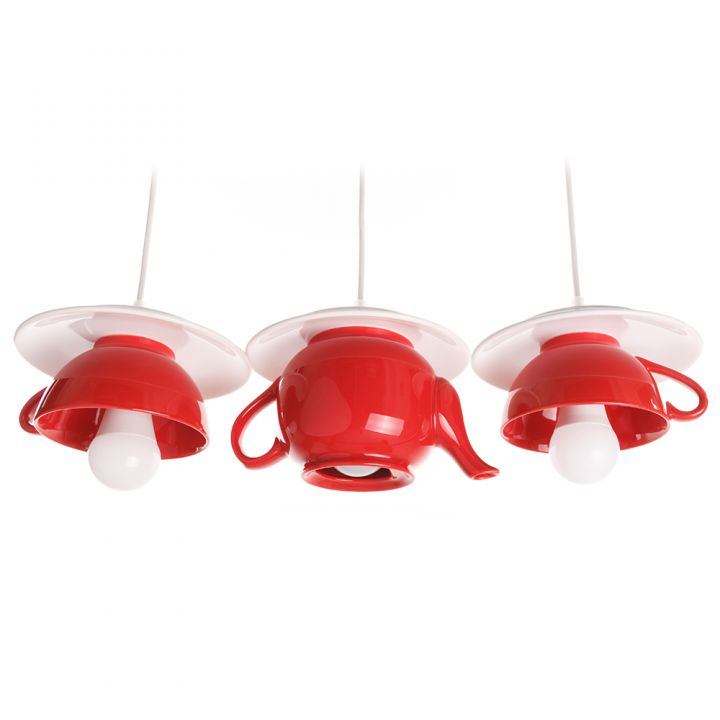 "Lustra ""Afternoon tea"" crazy teapot deep red"