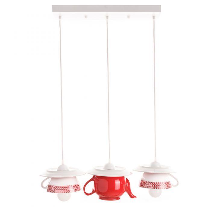 "Lustra ""Afternoon tea"" crazy teapot red decor"