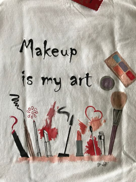"Tricou pictat ""Make up"""