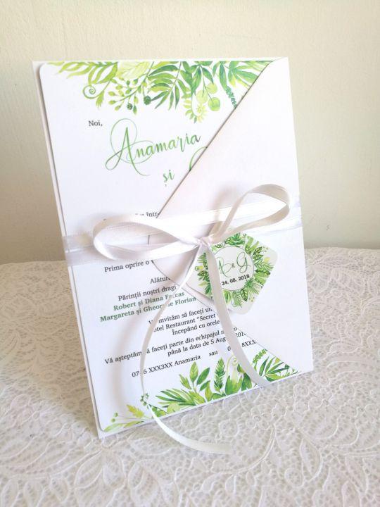Invitatie Nunta Foliage Invitatie Nunta Verde Invitatie Nunta