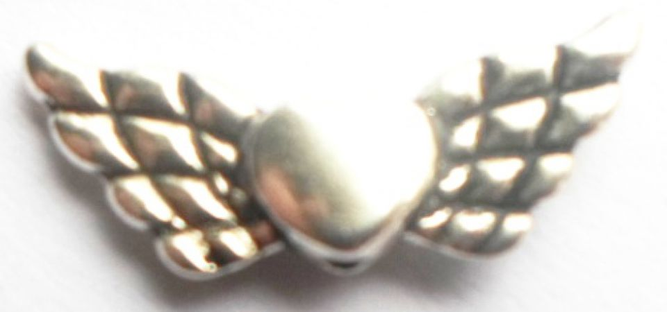 Mix margele metalice figurine argintiu 4 bucati