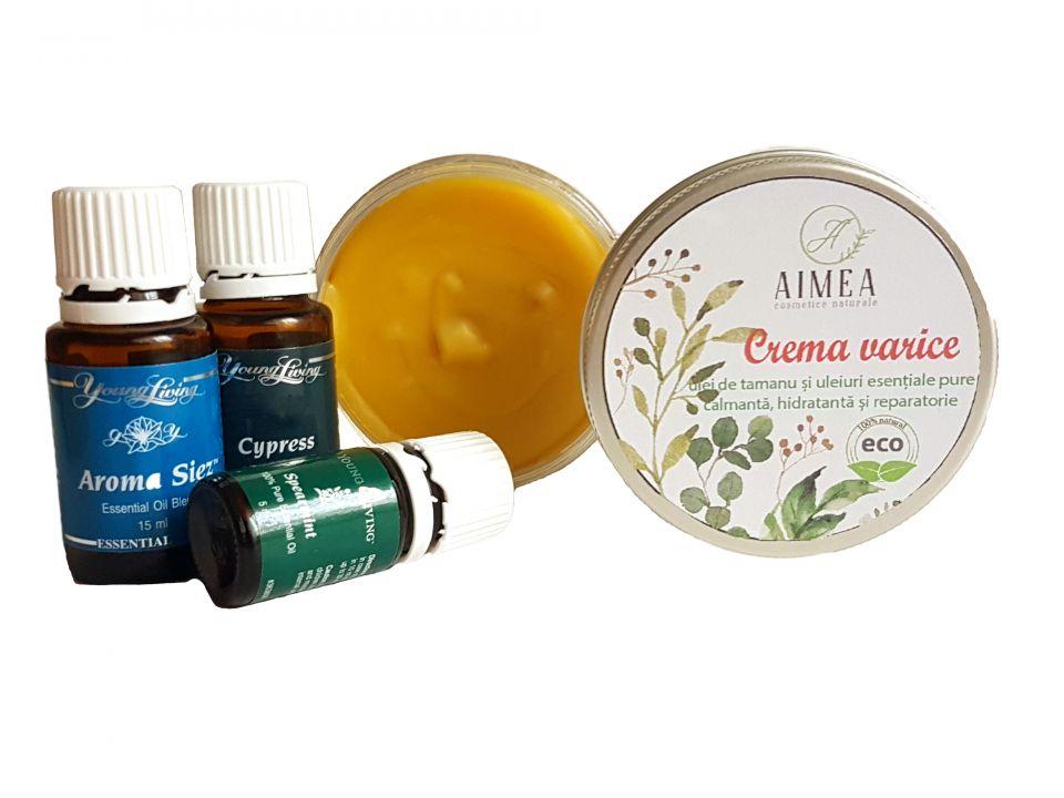 Crema varice cu ulei de tamanu si uleiuri esentiale pure