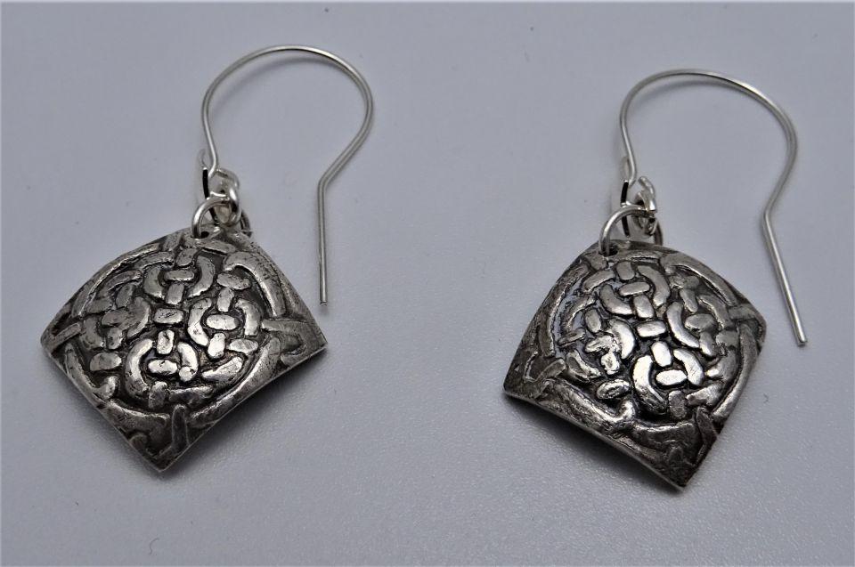 Cercei Unicat Din Argint 999 Cu Model Celtic Breslo