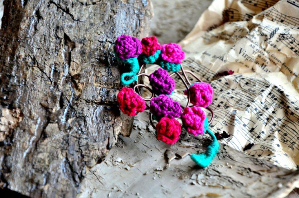 Broşă statement [ Branches in bloom ]