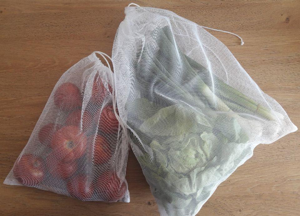 Set 10 saculeti L-M-S reutilizabili transparenti pentru legume-fructe si produse vrac