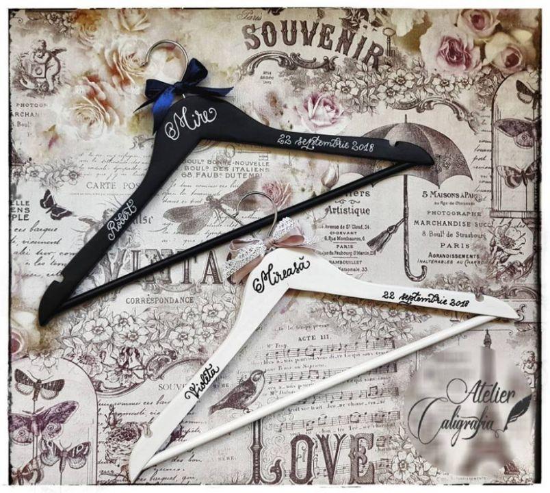 Set Umerașe caligrafiate manual nuntă