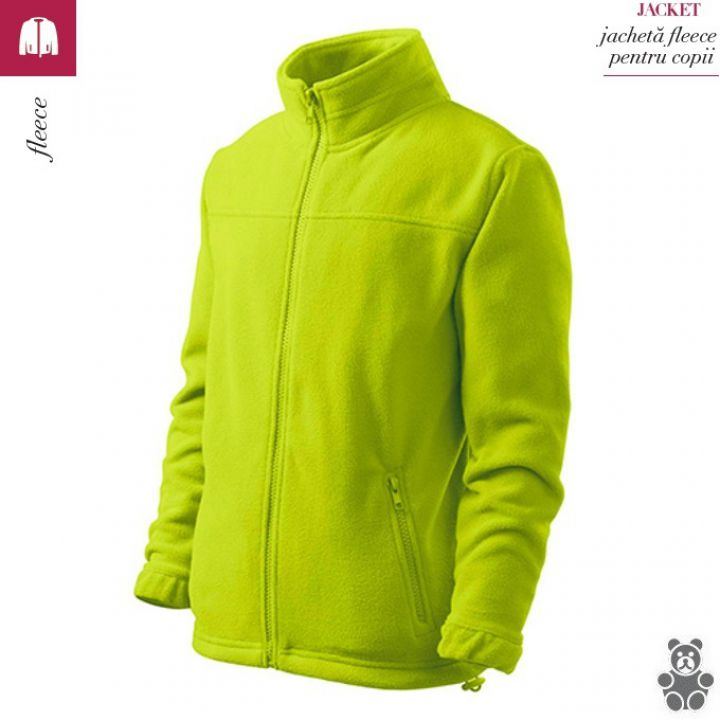 Jacheta copii lime din fleece, Jacket