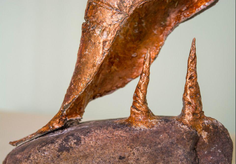 Sculptura abstracta Pisc în neant