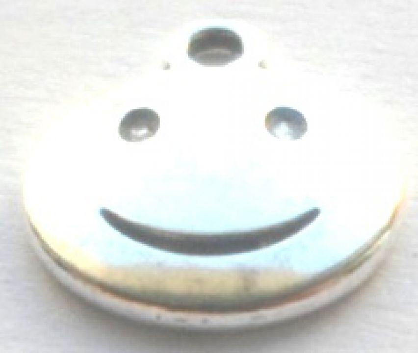 Pandantiv smiley face argintiu