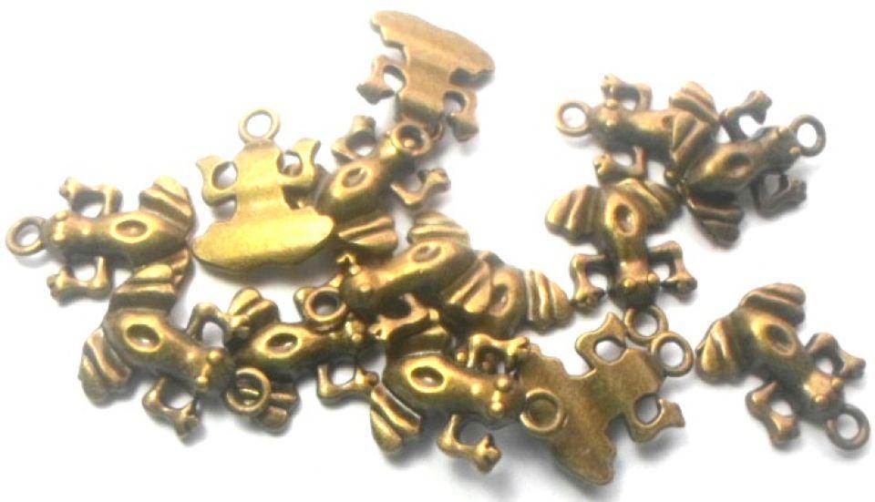 Charm broasca bronz