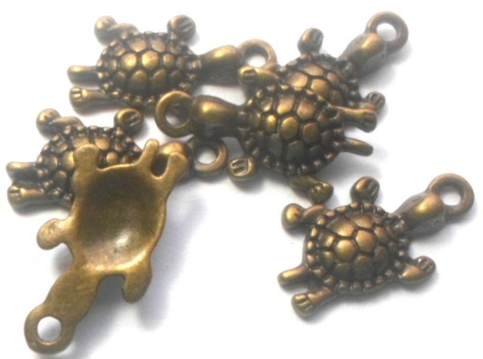 Charm broasca testoasa baby bronz