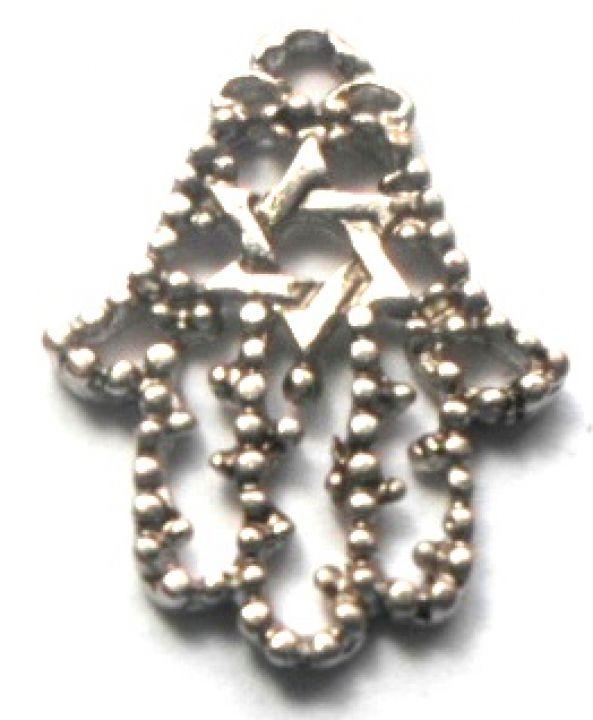 Charm mana Fatimei cu steaua lui David argintiu
