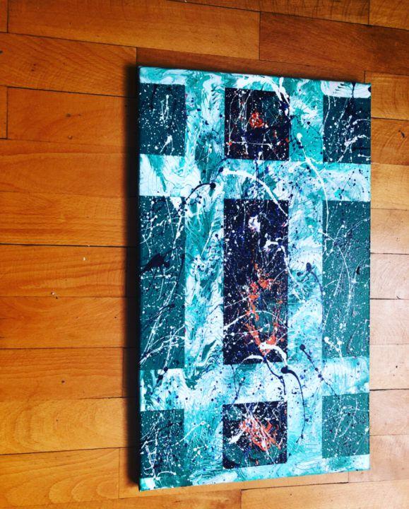 Tablou canvas Abstract Green handmade