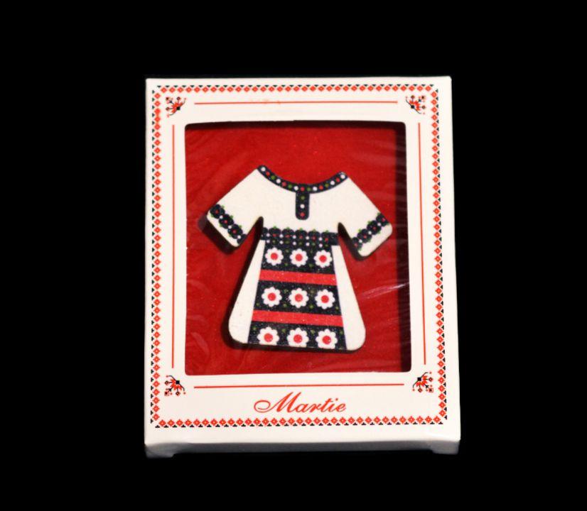 10b Cutie cu autoformare + background catifea rosie / ambalaj martisor traditional