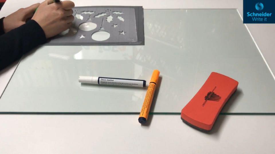Marker tip creta-portocaliu