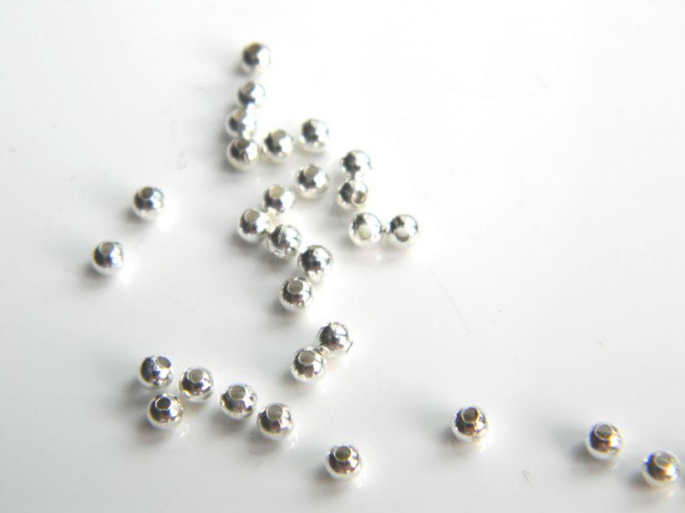 Margele metalice, 2,5 mm - 20 gr. (aprox. 900 buc)