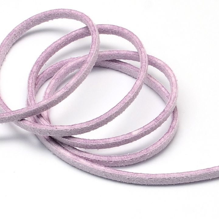 Snur faux suede lila 3mm  F30