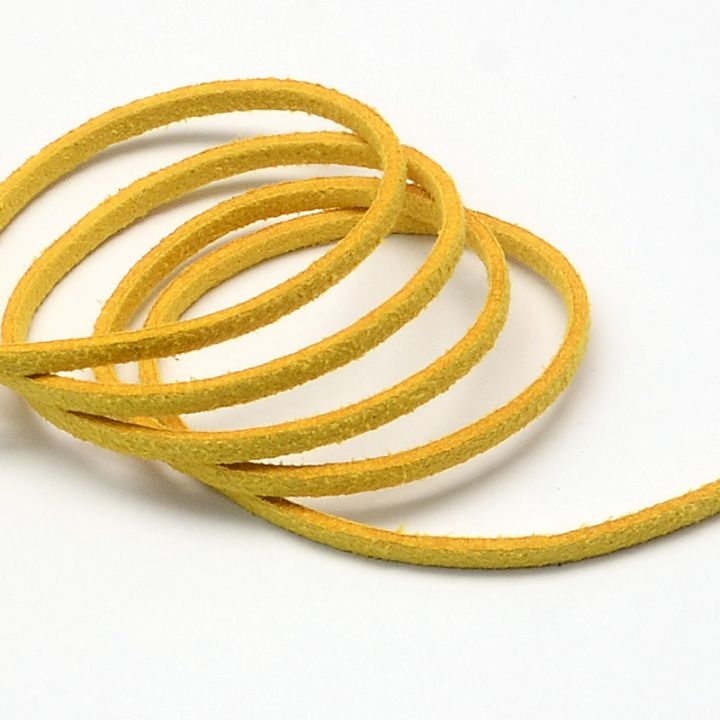Snur faux suede galben 3mm  F32