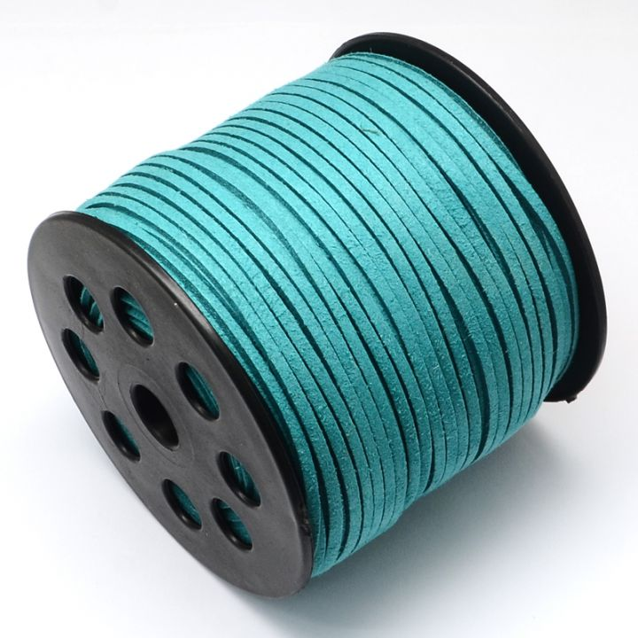 Snur faux suede  turquoise intens 3mm  F33