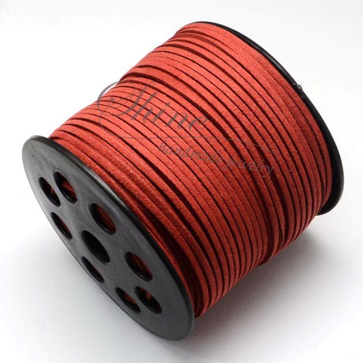 Snur Suede Fire Brick, 3.0x1.4mm