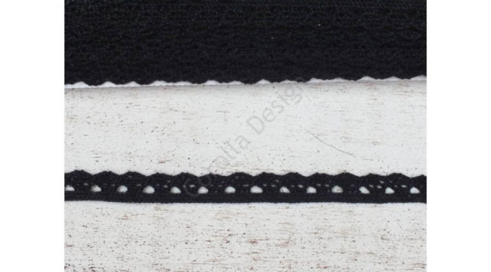 Dantela  neagra- 1m/1cm- 0094