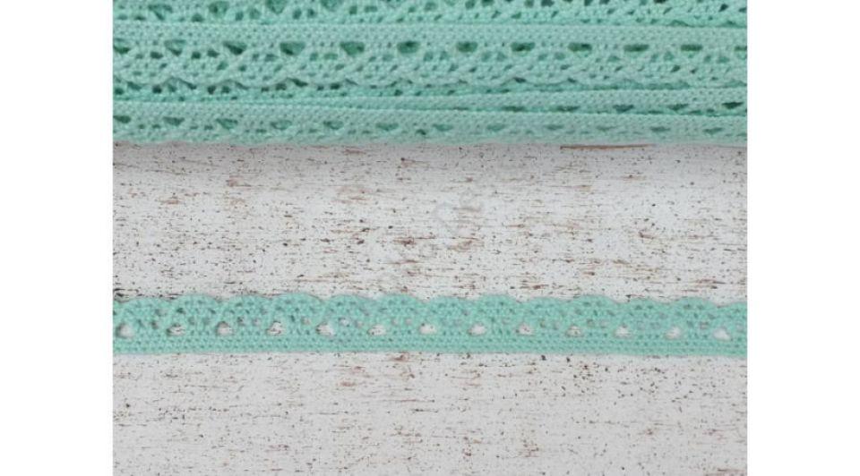 Dantela menta- 1m/1cm- 0094