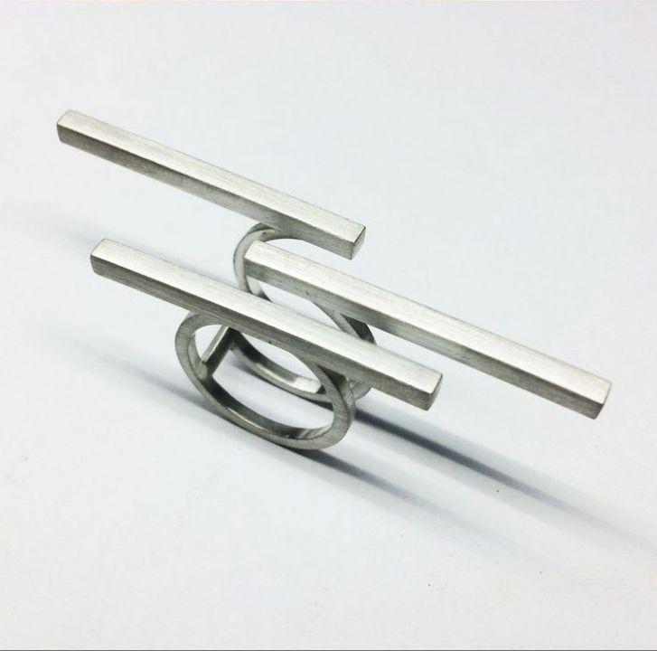 Inel triplu minimalist, argint 925