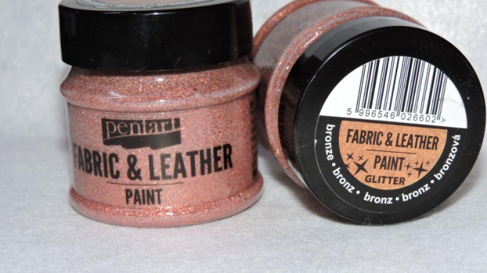 Vopsea sclipicioasa pentru textile si piele-bronz- 50ml