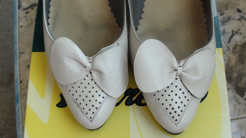 Pantofi vintage, din piele -unicat