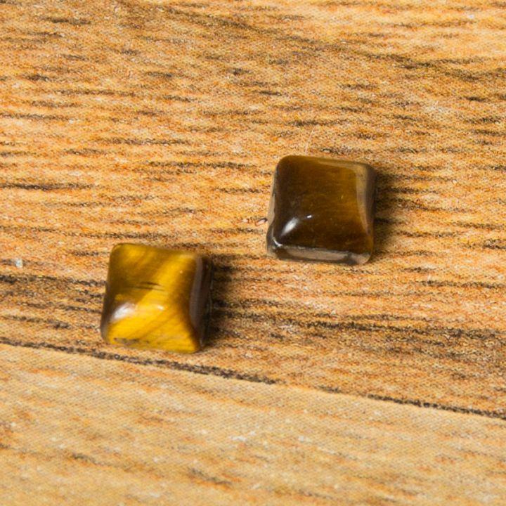 Cabochon Ochi de tigru 5mm (2buc)