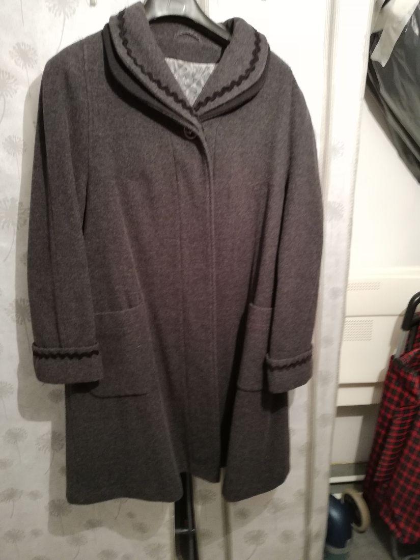 Palton lana Gri