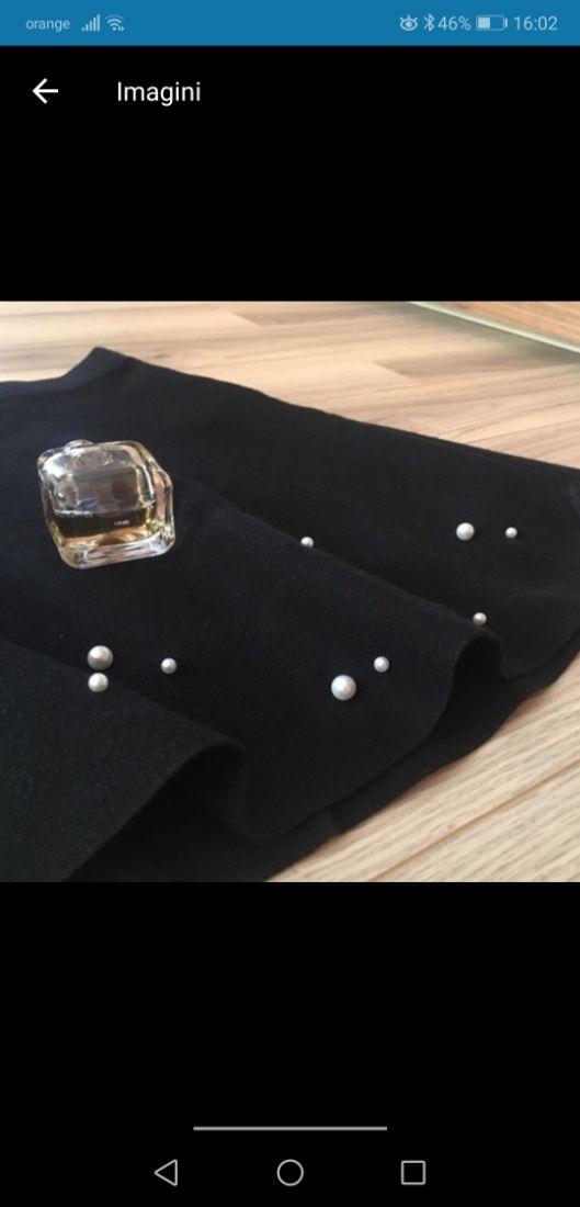 Fusta tricotata cu perle