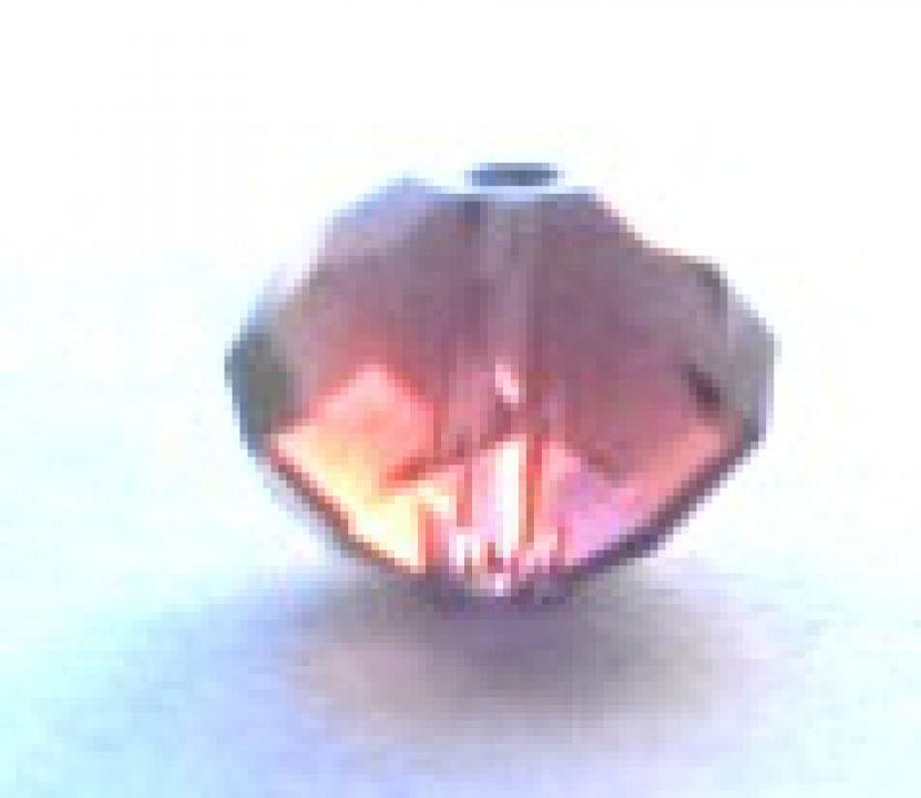 Margele cristale sticla roz transparent 8 mm