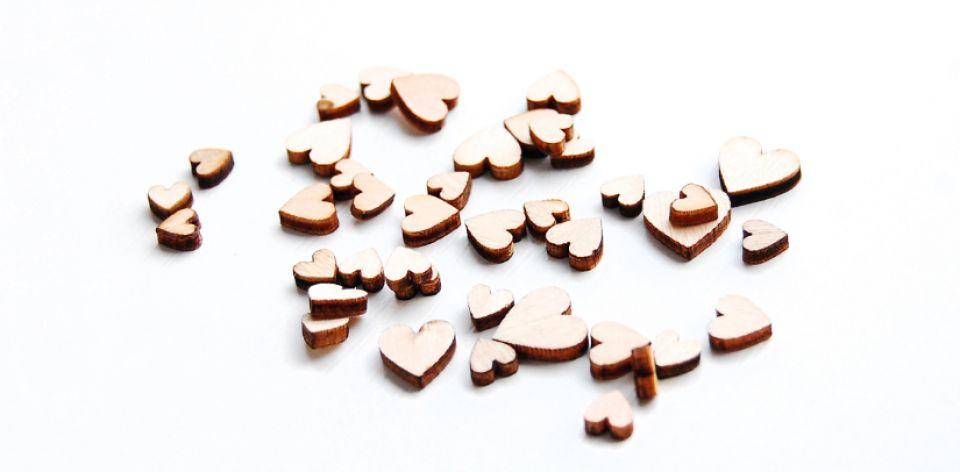 Blank-uri Inimioare lemn - [ 10 buc ]