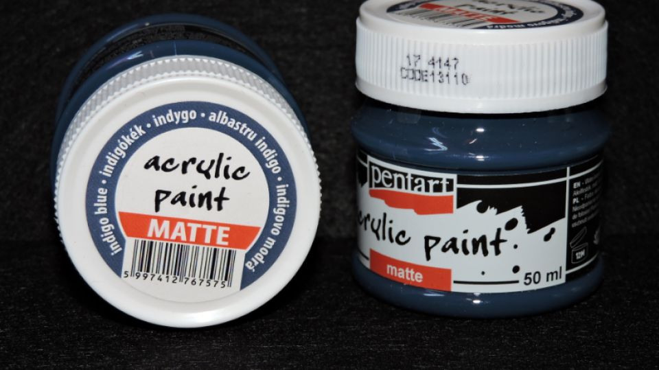 Vopsea acrilica mata 50 ml- albastru indigo