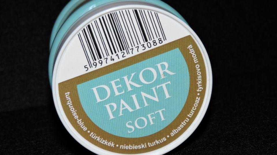 Vopsea decorativa soft, 230 ml- albastru turcoaz