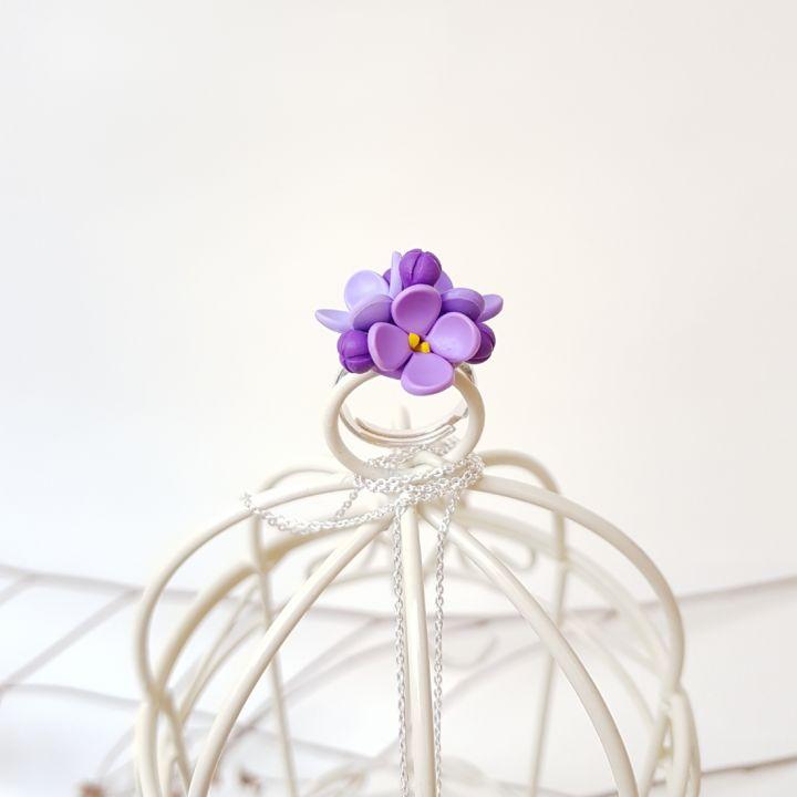 Set flori de liliac, argint 925