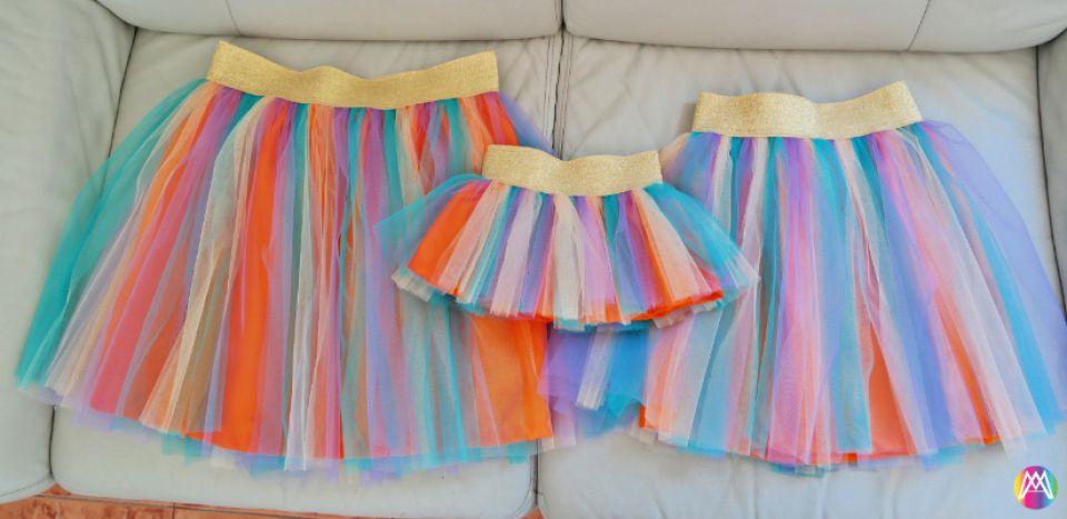 Fuste Tutu Multicolore , Mama si Fiica.