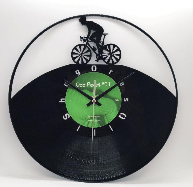 Ceas de perete biciclist Mountain Bike/ bicicleta NOU Cadou unic vinyl