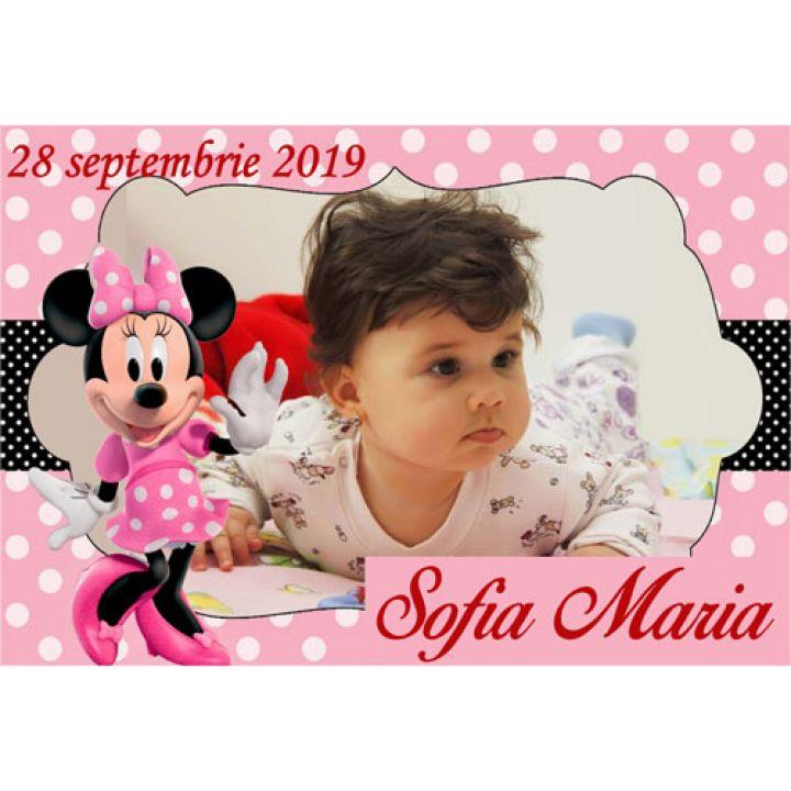 Marturii Botez Magneti Minnie Mouse Mfm 3 Breslo