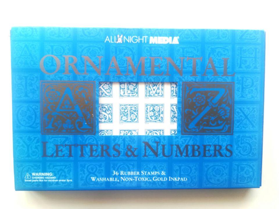 Set ștampile, litere și cifre decorative
